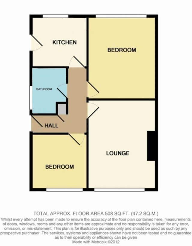 Floorplan of Sun Park Close, North Bersted, Bognor Regis, West Sussex, PO21 5TY