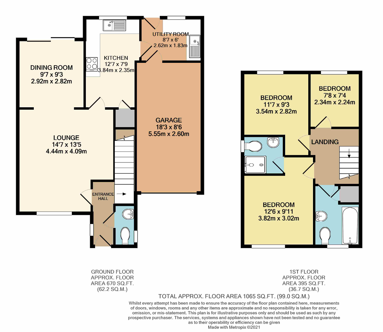 Floorplan of Harold Close, North Bersted, Bognor Regis, West Sussex, PO21 5UL